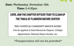 FFA Officers to Host Flanders Cleanup Event Nov. 18