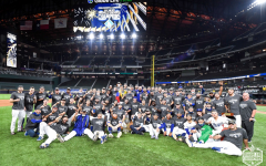 The Los Angeles Dodgers celebrate their victory over the Tampa Bay Rays in the 2020 World Series in Arlington, Texas.