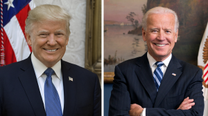 President Donald Trump, left, and former Vice President Joe Biden are locked in a tight election for president with a winner still undetermined entering Nov. 6.