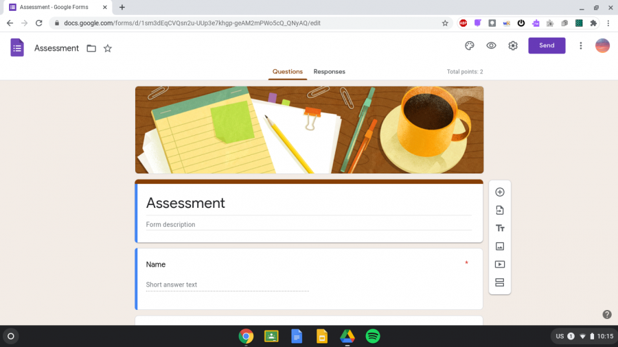The remote learning model has immensely impacted testing at Nonnewaug High School. Students now take tests using websites like Google Forms.