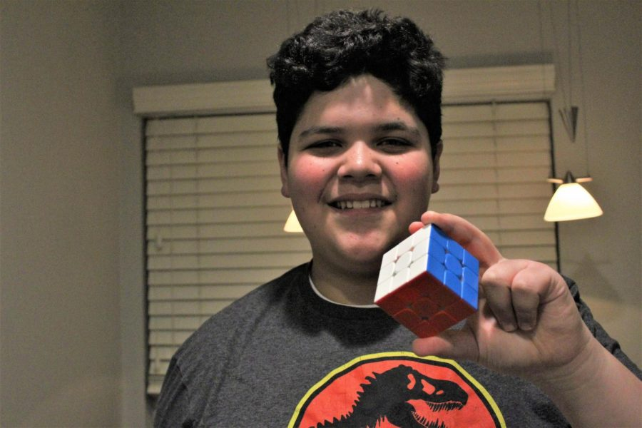 Nonnewaug freshman Michelangelo DiNunzio can solve a Rubik's cube in about 10 seconds.