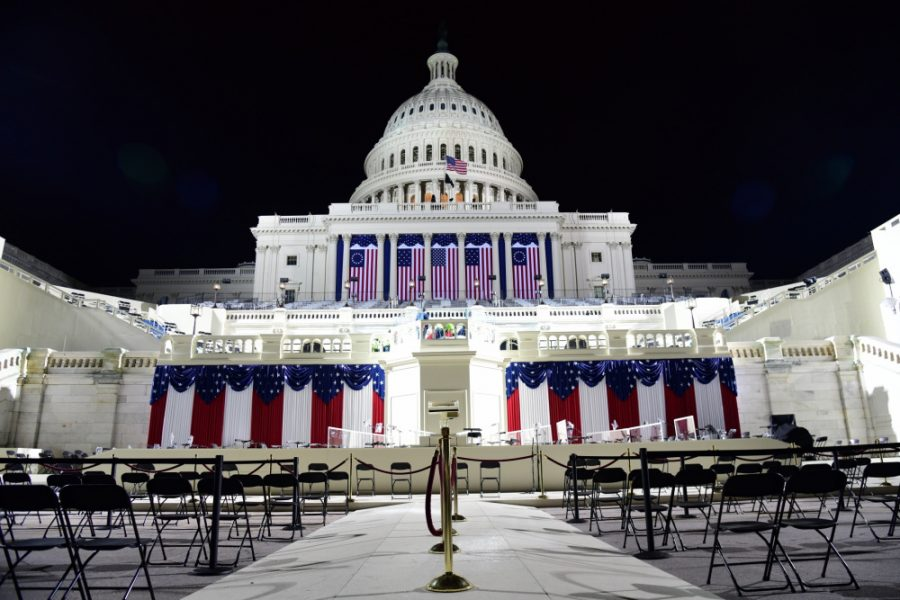 The U.S. Capitol was empty in the hours leading up to the Jan. 20 inauguration of President Joe Biden. Despite threats of protests, the inauguration went off peacefully.