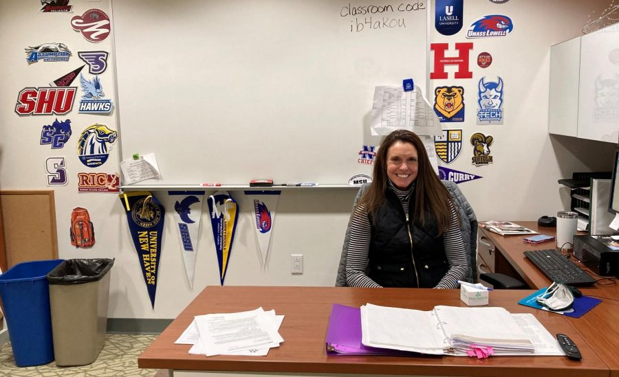 Nonnewaug students and alumni praise Kathy Green, the counselor who has led the College and Career Resource Center, for her encouragement and guidance in setting up their next steps after graduating from Nonnewaug.