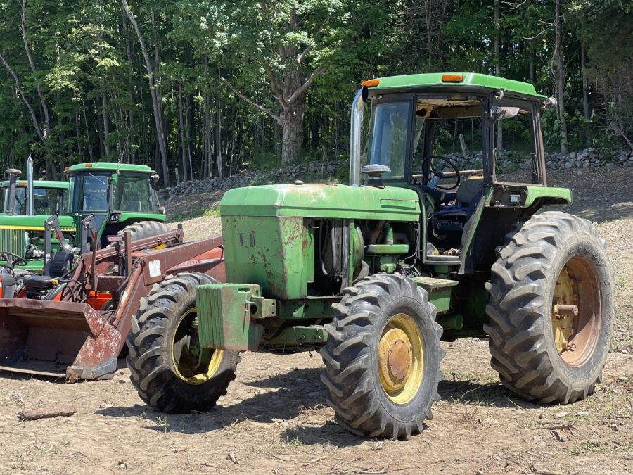 Over 30 tractors were on display Thursday for Nonnewaugs annual Bring Your Tractor to School Day.
