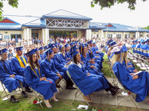 Nonnewaug seniors have a lot to look forward to over the next few weeks. A graduation ceremony for the Class of 2021 will be held on Saturday, June 19th. Similar to graduations in previous years, as pictured above, this year's ceremony will be full-attendance, in-person on the Nonnewaug campus.