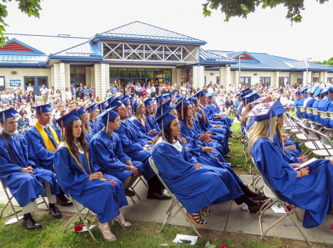 Nonnewaug seniors have a lot to look forward to over the next few weeks. A graduation ceremony for the Class of 2021 will be held on Saturday, June 19th. Similar to graduations in previous years, as pictured above, this year
