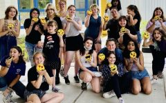 The Nonnewaug High School drama club (pictured) celebrates their hard work with some emoji cookies.