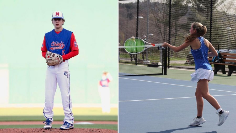 Nonnewaug+baseball+player+Ben+Conti%2C+left%2C+and+tennis+player+Alexa+Burke+are+just+two+of+the+many+student-athletes+who+juggle+sports%2C+academics%2C+and+their+mental+health.