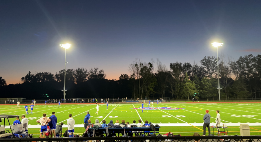 Nonnewaugs boys soccer team plays Shepaug on Oct. 1. The Chiefs won this game, 1-0, with the goal scored by Collin Bootsma. Both the boys and girls soccer teams are undefeated.
