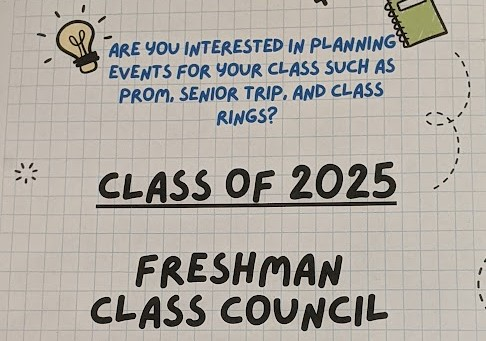 In September, the Nonnewaug Class of 2025 Council created a poster inviting freshmen to join.